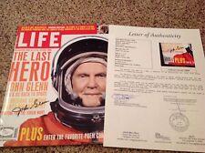 (SSG) JOHN GLENN Signed 1998 Complete Life Magazine - Full JSA Letter COA