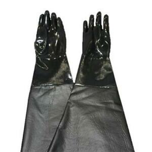 """REPLACES CLEMCO 11215 SANDBLAST CABINET SMOOTH NEOPRENE PAIR OF GLOVES 8"""" X 31"""""""