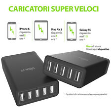 Super veloci Multi Port USB Hub 8a Caricatore per Samsung Galaxy S6 Edge S7 V