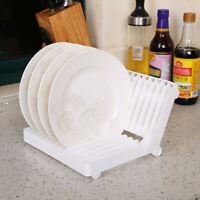 Foldable Water Filter Tray Dishes Plate Storage Holders Drying Rack  Kitchen