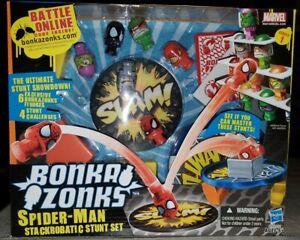 Bonka Zonks Marvel Series 1 Spider-Man Stackrobatic Stunt Set NIB