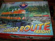 LIONEL 6-31952 GLACIER ROUE FREIGHT TRAIN SET w/ Fast-Track & Lg Transformer