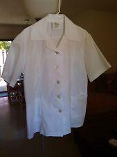 Tradewinds Rehabilitation Center Inc. White Uniform Blouse Women's 16 Regular