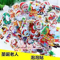 Children Kids crafts stickers Lot Santa Claus Character Toys Kids Holiday Gift