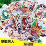 Wholesale 50pcs Santa Claus Christmas PVC stickers Scrapbooking Craft Decoration