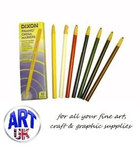 Dixon Phano China Markers, Peel Off Chinagraph Pencils, for Glass Plastic Glossy