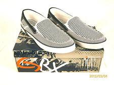 GBX®  Hudson Slip on Shoes QC304 Navy White 137023 Size 10 M 1078F