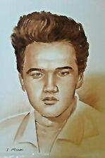 ELVIS PRESLEY in 1956 Painting  1950S GORGEOUS