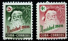 1954 Latin America, Christmas, Santa, 2 Stamps, Mnh