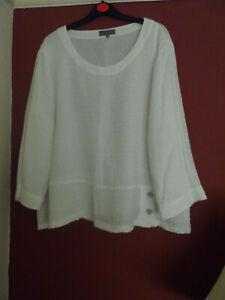 LOVELY SAHARA TOP/BLOUSE SZ L (XL) OVERSIZED WHITE