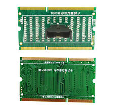 Emplacement de mémoire DDR3 testeur carte avec LED pour ordinateur portable carte mère ordinateur portable de pièces nouvelles
