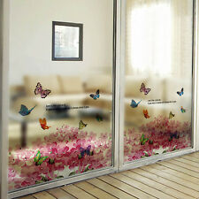 Frosted Colorful Butterfly Decal Wall Mural Glass Sticker Vinyl Art Home Decor