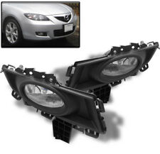 07 08 09 MAZDA 3 MAZDA3 SEDAN 4DR BUMPER FOG LIGHT LAMP KIT CHROME W/BULB+SWITCH