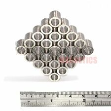 250 Neodymium N52 Ring Magnets 9.5mm dia x 1mm + 6.35mm hole strong neo magnet