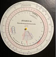 Hygrothermische Rechenscheibe Hygros / Psychrometric Slide Rule / Rechenschieber