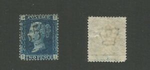 GB 1858 QV 2d Blue SG 46 Plate 13 Used