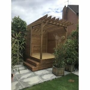 8ft x 8ft Outdoor Sunroom  Pressure treated, garden, summer, timber, decking