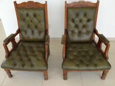 Leather Dining Chairs Original Victorian Antique Furniture