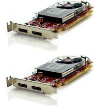 Lot of 2 Dell ATI Radeon HD 3470 256MB PCIe x16 Dual D-Port LP Video Card C120D