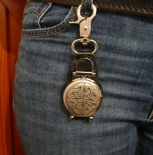 Celtic Knot Design Belt Clip Pocket Watch Dog Walkers Ramblers Father's Day Gift