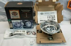 Harley Davidson Halogen Headlight Dual Bulb Assembly 94 Later FLHT OEM 67864-04