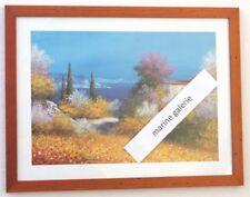 Cadre déco Provence Décoration paysage peinture zen bleu miel repro F. Carron