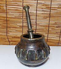 Antique Caucasus Motif Mortar And Pestle circa 1800s