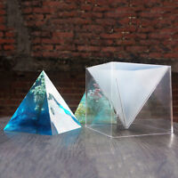 5/6/10/15CM Pyramid Silicone Mould DIY Resin Craft Jewelry Making Plastic
