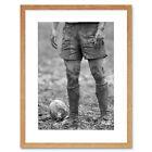 Dt Ball Rugby Mud Bowl Art Framed Wall Art Print