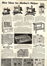1939 PAPER AD Doll House & Furniture Toy Sewing Machine Disney Pull Toys