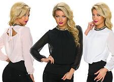 Klassische hüftlange Langarm Damenblusen, - tops & -shirts für Party-Anlässe