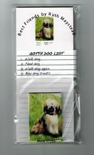 New Tibetan Terrier Magnetic Refrigerator List Pad & Magnet By Ruth Tet-1