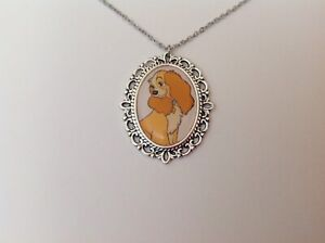 Lady and the Tramp silver necklace Disney rockabilly retro vintage kitsch cute