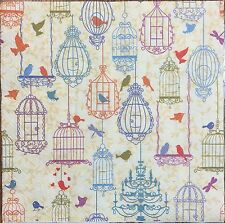 2 single paper napkins decoupage crafts collection Serviette Birds Birdcage Bird