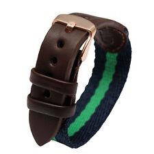 Quality Nylon / Leather Watch Band Strap Fit DW Daniel Wellington 40mm Watch