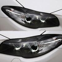 Pair For BMW 5 Series F10 2010-2013 Headlight Cover Eyelid Eyebrow Eye Lid Brow
