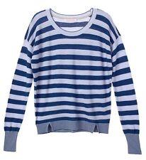 Victoria's Secret Icy/Lavender Blue Stripe Sweater Xs Nip