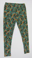 LuLaRoe Women's Paisley Print Leggings T&C Tall & Curvy Green Multi New