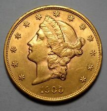 SUPERB UNC 1900-P  Liberty Head  $20 Twenty Dollar Gold US Coin