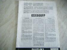 SUZUKI GSX600FP GENUINE SET UP MANUAL