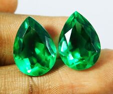 Natural Loose Gemstone 5 to 7 cts Each 2 Certified Muzo Colombian Emerald Pair