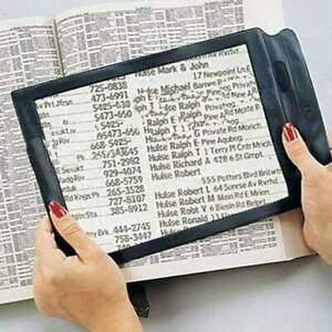 A4 Full Page Magnifier Sheet 4X Big Large Magnifying Glass Reading Book Aid Lens
