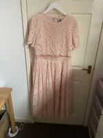 Occasion Cream Lace Dress. In Great Condition. Only Worn Twice.