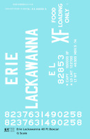 K4 G 1:24 Decals Erie Lackawanna 40 Ft Boxcar White