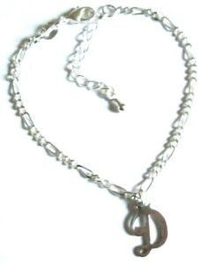 Kids & Teens 925 Sterling Silver  *Initial* Chain bracelet  *in a gift box*