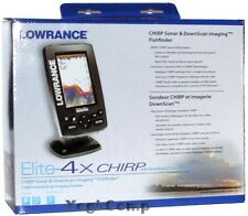 Lowrance Elite-4x CHIRP Sonar Fishfinder with 83/200 Broadband Transducer NEW