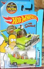 2015 Hot Wheels HW City #58-250 The Simpsons Homer Green Car 4+ Boys & Girls