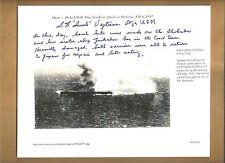 """Stanley Vejtasa Yorktown & Enterprise Ace Pilot Autographed 8x10 Picture """"Swede"""""""