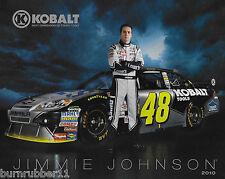 "2010 JIMMIE JOHNSON ""KOBALT TOOLS HENDRICK"" #48 NASCAR SPRINT CUP POSTCARD"