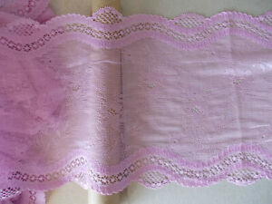2.9m Lilac Pink STRETCH dainty floral soft deep lace
